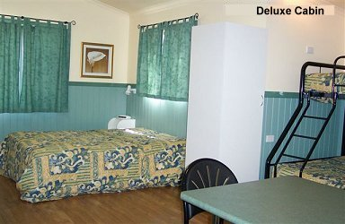 Fossickers Rest Tourist Park Deluxe Cabins - Beds